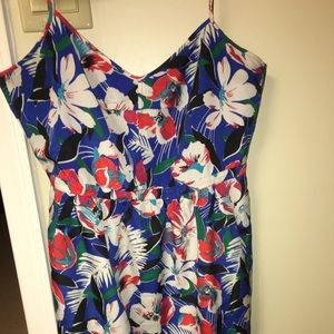 J crew floral summer dress with pockets
